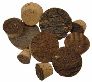 Rough Bark Top Cork Plugs