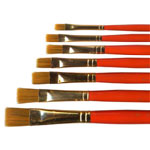 Flat Bristle Brush 7 piece set